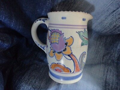 Honiton pottery barrel jug hand painted # 27 vintage made in England