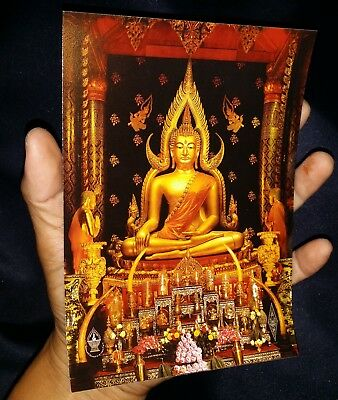 1 x Yantra poster thai buddha Phra chinnaraj BE.2559 original ,Powerful Protect