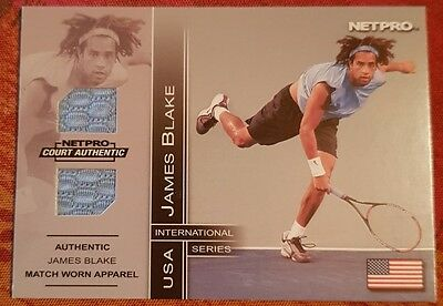 James BLAKE Jersey card NETPRO Court Authentic 7B #063/500 Tennis