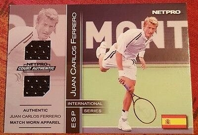 Juan Carlos FERRERO Jersey card NETPRO Court Authentic 9D Tennis