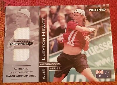 Lleyton HEWITT Jersey card NETPRO Court Authentic 3B #098/500 Tennis