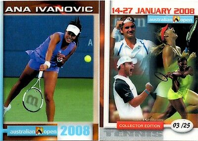 2008 Australian Open Ana IVANOVIC FA Collector Edition card #03/25