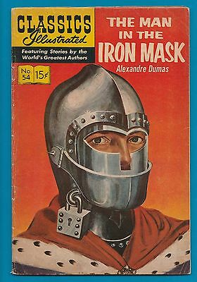 Classics Illustrated Comic Book 1948 The Man in the Iron Mask # 54 A. Dumas #812