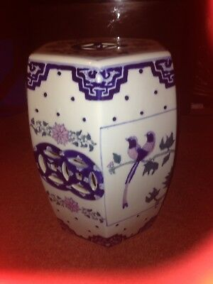 Large Chinese Stool/table Oriental porcelain