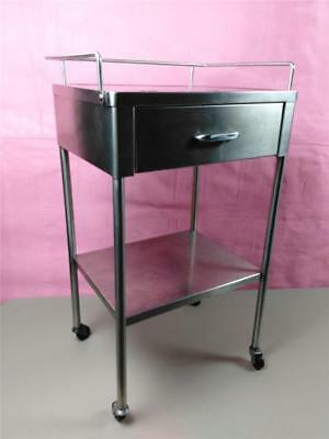 Blickman Stainless Steel Anesthesia OR Surgical Med Table Cart Stand Drawer