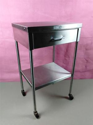 Wilson Castle Stainless Steel Anesthesia OR Surgical Med Table Cart Stand Drawer