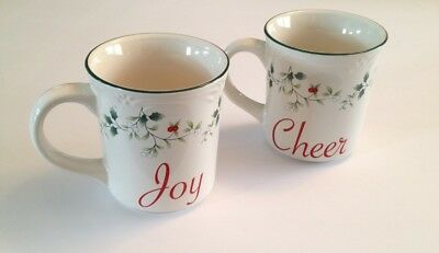 c0107a95fd2 PFALTZGRAFF WINTERBERRY CHEER and JOY mugs brand new excellent ...