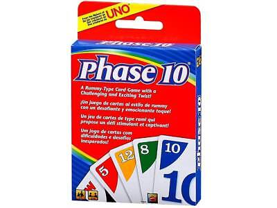 Brand New Phase 10 Card Game Rummy Children's Games Travel