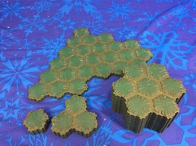 80 Hexes of Heroscape Swamp and Swamp Water Terrain Tiles ~ Expand!