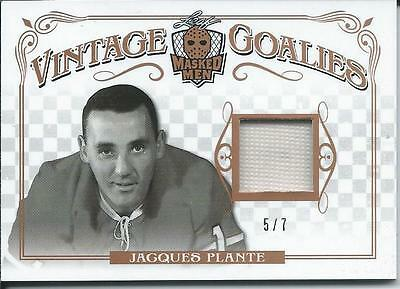 2017 Leaf Masked Men Vintage Goalies JACQUES PLANTE 5/7 #VG-09