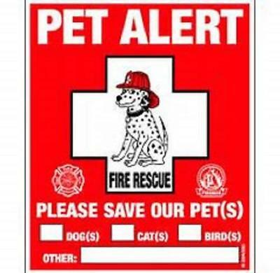 Pet Safety Alert Window Cling 2 pack