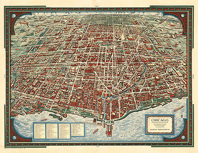 Chicago The Greatest Inland City in the World 1938 75cm x 58.3cm Art Print