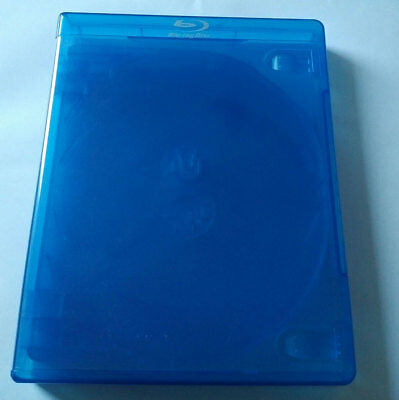 NEW! 2 Pk 22 mm VIVA ELITE Blu-Ray Replace Case Hold 5 Discs (5 Tray) Blue