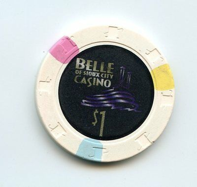 1.00 Chip from the Belle of Sioux City Casino in Souix City Iowa