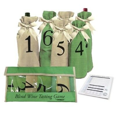 Blind Wine Tasting Game Includes: Six Individually Numbered Bags, Storage