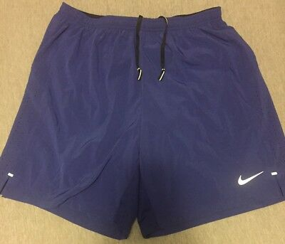 NEW Men's NIKE Shorts Size Large Blue w/inner Brief Stay Cool Dri-Fit
