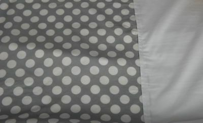 Moses Basket Light Weight Quilt Coverlet Soft Fleece Backed Lining Grey Polka