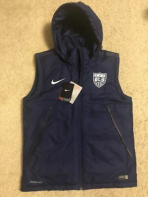 32cfa1f48107 Nike Team USA Soccer Hooded Blue Storm-Fit Thermore Vest 643860-423 Men s  Size