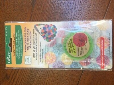 Clover Yo Yo Maker Small Size Patchwork Quilting Fabric Sewing NEW