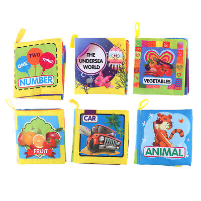 Newborn 0-3 Years Infant Fabric Cloth Books Educational Baby Toys GI