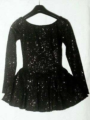 ice skating dress black with sequins