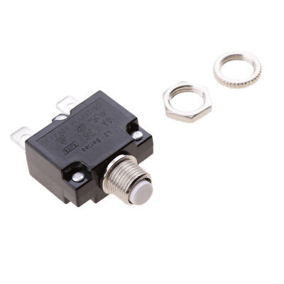 Thermal Overload Circuit Breaker 125VAC 250VAC 50VDC Push Button - 10A