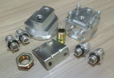 """remote oil filter relocation kit, 3/4""""-16 m20x1.5, universal. AN10 AN-10"""