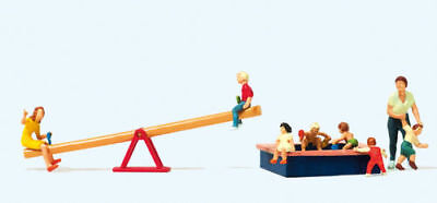 HO Scale People - Children at Play with Seesaw and Sandpit
