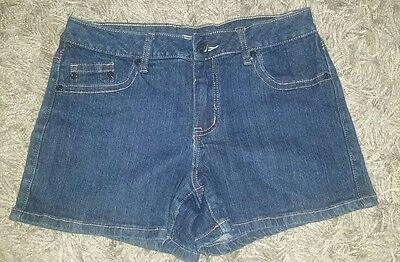 VINTAGE STYLE PAIR of CATO Stretch Jean Shorts Size 10 Blue Denim~CUTE