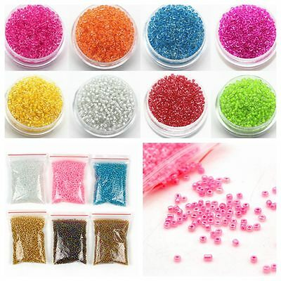 Bulk 2mm Colored Czech Glass Seed Spacer Beads Pearl 1200pcs For Jewelry Making