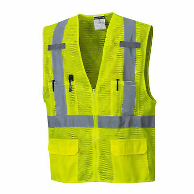 Portwest US370 Hi-Visibility Reflective ANSI Class 2 Safety Vest with Mic Tabs