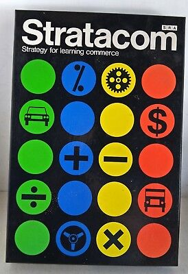 Vintage Board Game: Stratacom - Strategy for Learning Commerce, SRA, 1976 (6815)
