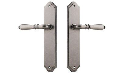 SARLAT LEVERS ON PLATE-PASSAGE SET-10 FINISH-INCLUDES TUBE LATCH-HAMPTONS-tradco