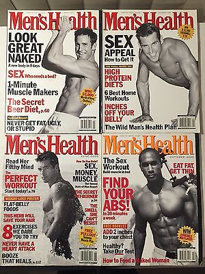Lot 4 Issues Mens Health Magazine December 1999 March June October 2000 Fitness