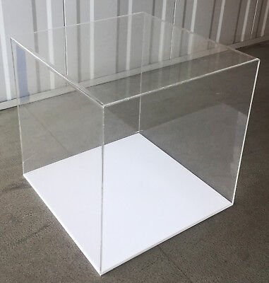 40 x 40 x 40cm Quality Large Acrylic Display Box Cube Perspex Case With Base