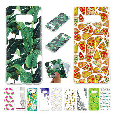 Rubber TPU Silicone Pattern Back Case Cover For Samsung Galaxy Note 8 S8 Plus S7