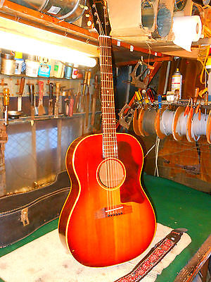 1964 Gibson LG1 LG-1 LG Acoustic Electric Guitar Soft Shell Case Amazing Player