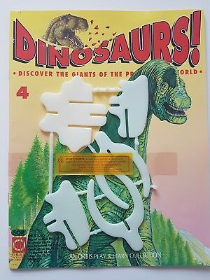 'DINOSAURS!' ORBIS DE AGOSTINI MAGAZINE ISSUE 4 NEW 90's & MODEL PARTS
