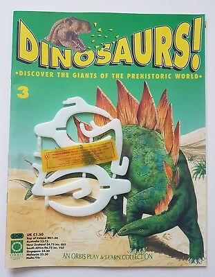 'DINOSAURS!' ORBIS DE AGOSTINI MAGAZINE ISSUE 3 NEW 90's & MODEL PARTS