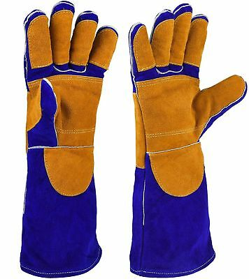 Leather Welding Gloves with CE Certificates, Heat Resistance Anti-scratch Cut...