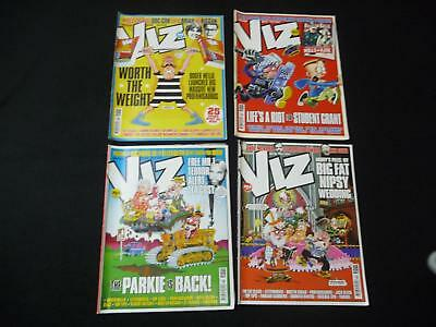4 x Viz comic magazines - 199, 202, 203, 204 (LOT#2035)