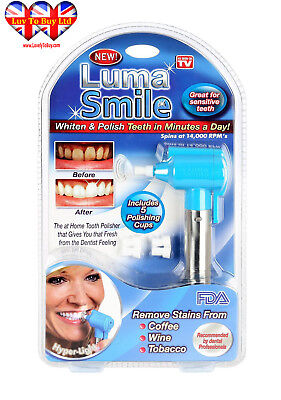 Dental Luma Smile Teeth Whitening Dental Tooth Polisher  Stain Remover coffee,..
