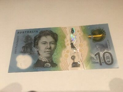 🌟RARE FIRST PREFIX AA17!!! Australia: 2017 $10 UNC Collectable Limited Note 🌟