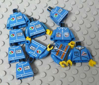 LEGO Minifig Assorted Blue City Oil Jacket x10PC
