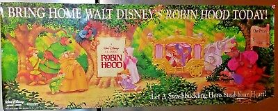 Rare Disney S Robin Hood Cartoon Disney Extended Movie Poster 53 X
