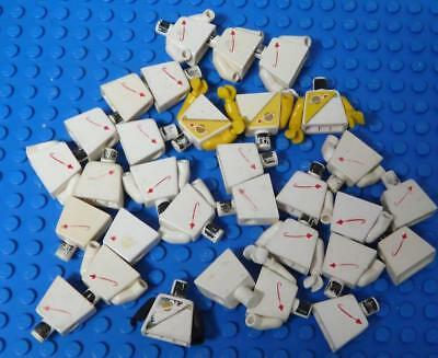 LEGO Minifig Torso Assorted White Yellow Space  x31PC
