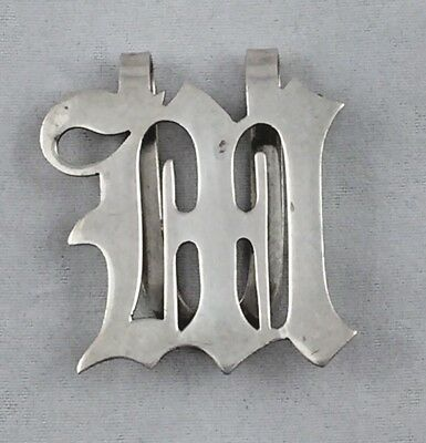 Manchester Sterling 'M' Napkin Clip