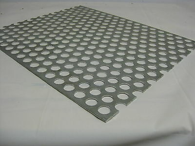 """Perforated Aluminum Sheet .125 _1/8"""" Thick 12""""x 12"""" 3/4"""" hole 1"""" Stagger 3003"""