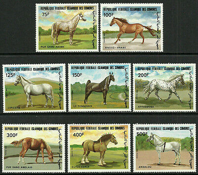 Comoro Is. #579-86 Mint Never Hinged Set - Horses