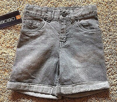 NWT Boy's Gray Denim Cherokee Shorts Adjustable Waist 3T